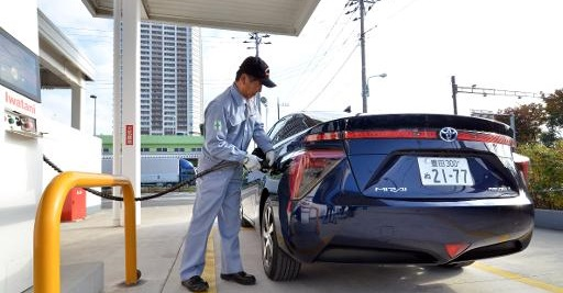 Toyota Motor's fuel cell vehicle